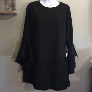 BOGO NWT S Lulus Little Black Dress w Bell Sleeves